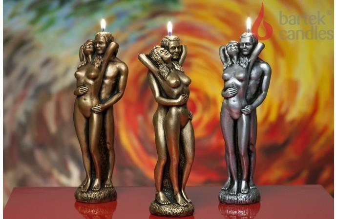 świeca Dekoracyjna W Kształcie Figurki Zakochana Para